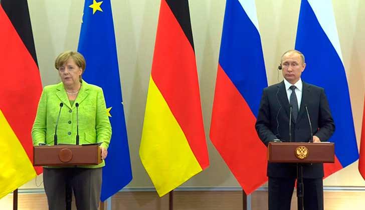 Putin y Merkel se reunieron tras dos años y hablaron sobre Ucrania, Siria y otras políticas internacionales