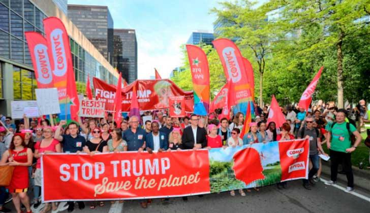 Tras reproches a la OTAN Trump se reúne con líderes del G7