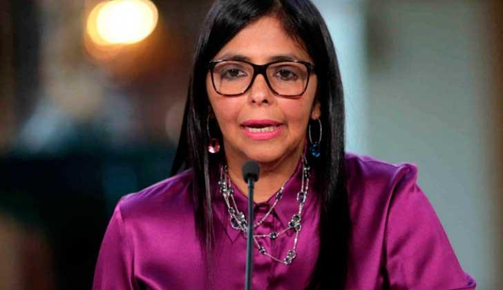 """Delcy Rodríguez ante la OEA: """"Modelo irresponsable de EE.UU afecta a países latinos y al planeta""""."""