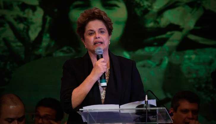 """Dilma Rousseff: """"El golpe tuvo como razón estratégica meter a Brasil económica, política y geopolíticamente en el neoliberalismo"""". Foto: PT"""