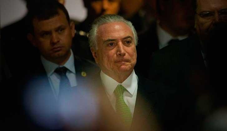 Cae en Brasil un colaborador cercano del presidente Michel Temer