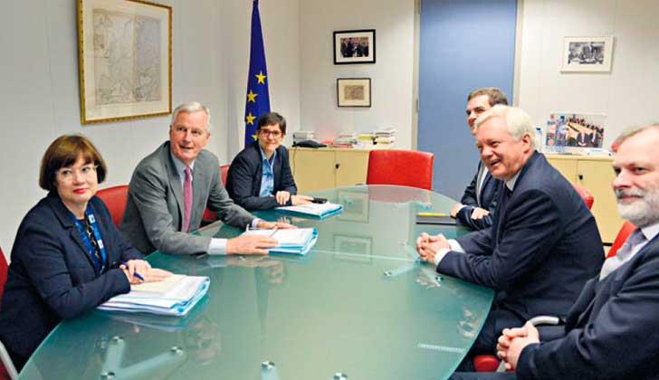 Comenzó la segunda ronda de de la negociación del Brexit en Bruselas. Foto: EFE