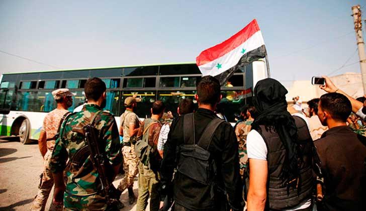 Ejército sirio anuncia alto el fuego en el sur del país