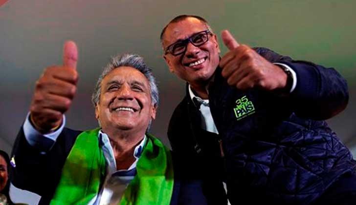 Ecuador: Lenin Moreno retira de todas sus funciones al vicepresidente Jorge Glas.