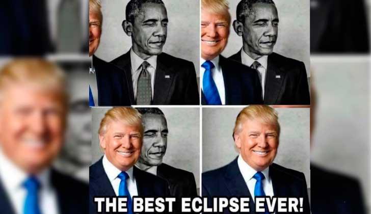 Trump se burla de Obama en Twitter