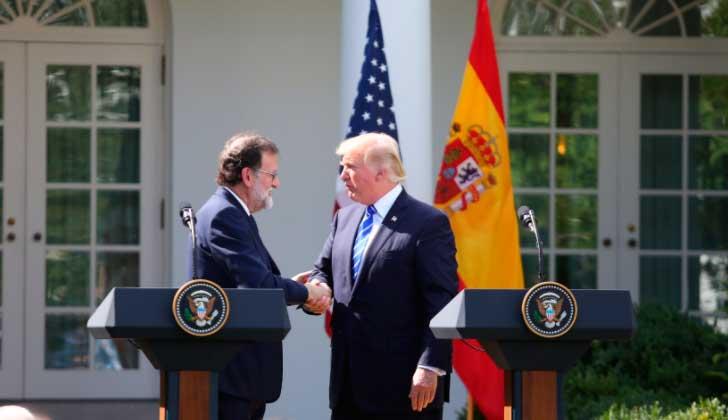 Rajoy llega a Washington para reunirse con Trump