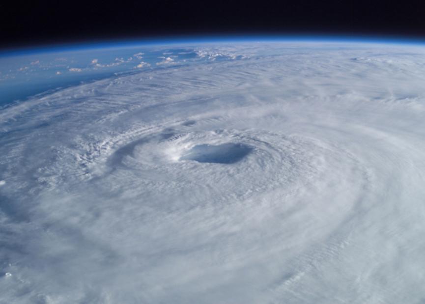 Foto del huracán Isabel, tomada por el astronauta Edward Lu, que en ese momento estaba en la Estación Espacial Internacional. Foto: NASA