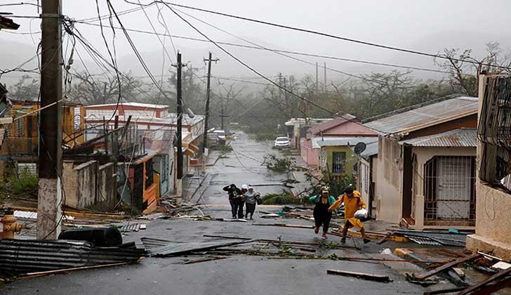 El huracán María ya dejó al menos 10 muertos en el Caribe y avanza hacia República Dominicana. Foto: Reuters