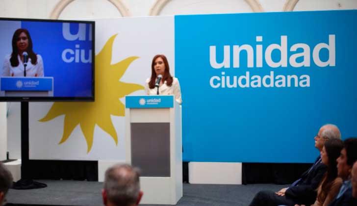 """CFK: """"El Poder Judicial actúa como una fuerza de tarea del Ejecutivo"""". Foto: @UniCiudadanaAR"""