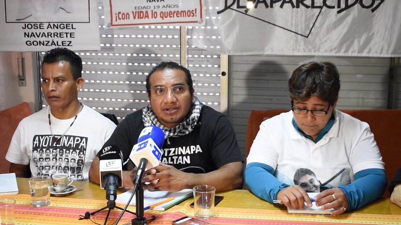 De izquierda a derecha, Emiliano Navarrete, Vidulfo Rosales y Blanca Luz Nava. Foto: Carlos Loría - LARED21