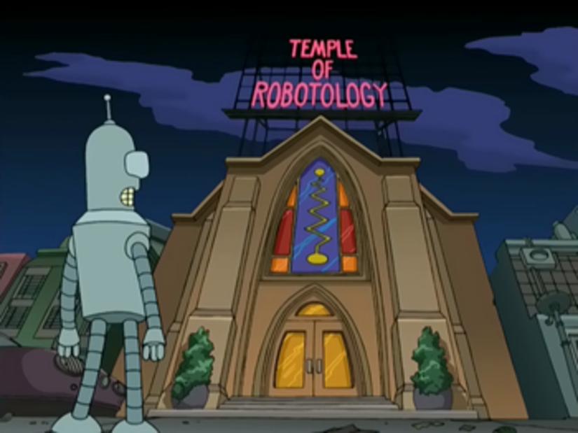 "Bender, de la serie Futurama, frente al ""Tempo de Robotología"". Foto: Fox"