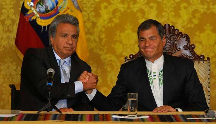 """Rafael Correa: """"Lenín Moreno me engañó diez años"""". Foto archivo"""