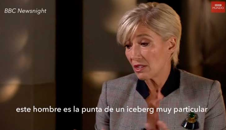 "Emma Thompson: Lo de Harvey Weinstein en Hollywood ""es solo la punta del iceberg""."