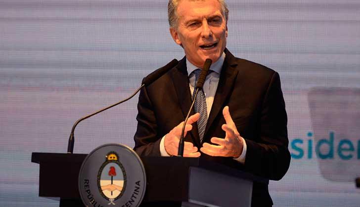 """Mauricio Macri presentó su plan de reformas: """"Tenemos que trazar una línea de austeridad para lo que viene"""".. Foto. DyN"""