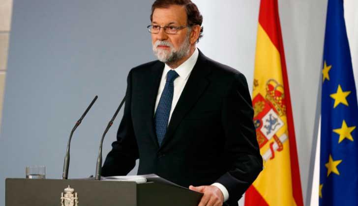 """Rajoy exige a Puigdemont que asegure que no habrá declaración de independencia para evitar """"males mayores"""". Foto:@MarianoRajoy"""