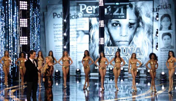 Las candidatas a Miss Perú 2018 dieron cifras de feminicidios en lugar de sus medidas físicas.