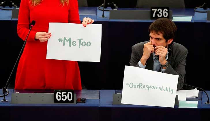 Sólo cinco hombres participaron del debate de la Eurocámara sobre acoso sexual.