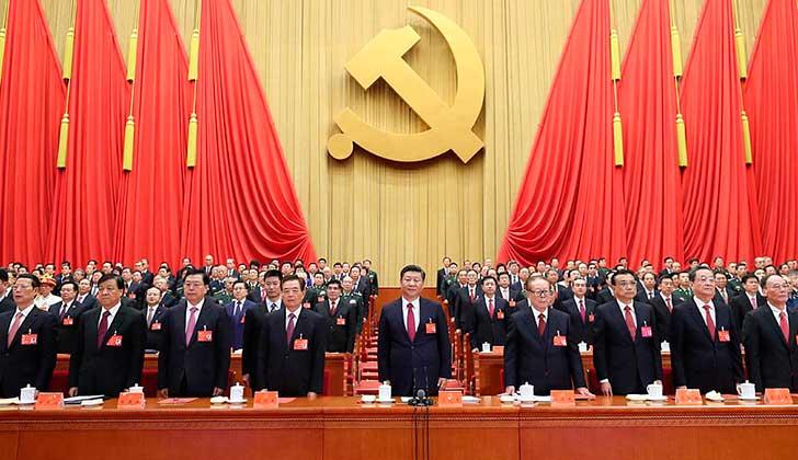 """El pensamiento de Xi Jinping entra en los estatutos del Partido Comunista de China """"como parte de guía de acción"""". Foto: Xinhua"""