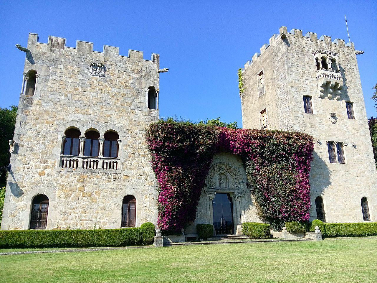 Pazo de Meirás, castillo donde vivió Franco y que ahora pertenece a sus herederos. Foto: Wikimedia Commons