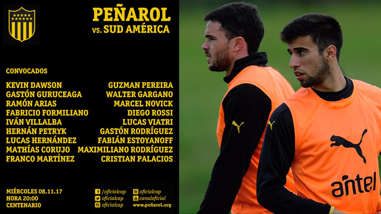 Peñarol empata 0-0 con Sud América en el Estadio Centenario