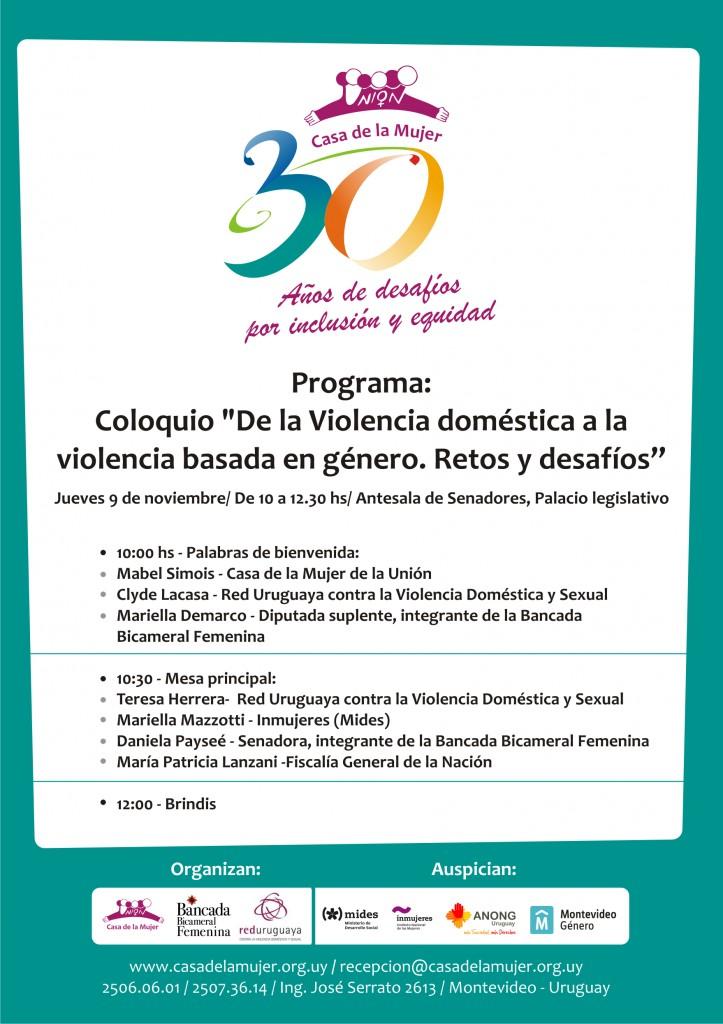 Programa Coloquio 9 noviembre
