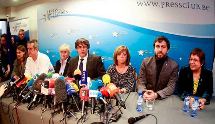 Un juez belga dejó en libertad condicional a Puigdemont y los exconsellers . Foto. EFE