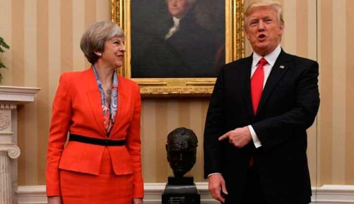 """Trump a Theresa May: """"Concéntrate en el destructivo terrorismo islámico radical que tiene lugar dentro del Reino Unido""""."""