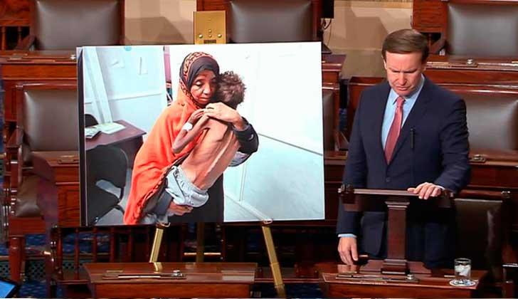 Senador de EE. UU. critica la participación de los EE. UU. en Yemen.
