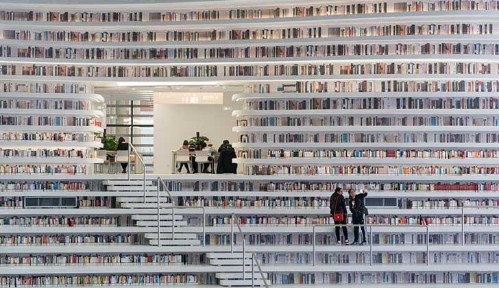 La espectacular biblioteca china que tiene lugar para más de 1,2 millones de libros.