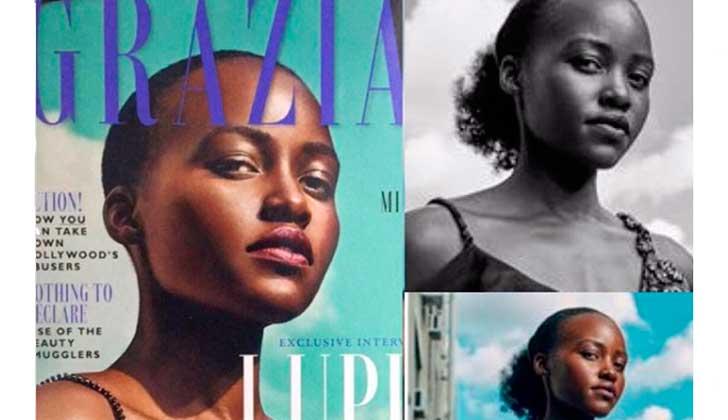 """Lupita Nyong'o denuncia a una revista que """"photoshopeó"""" su pelo."""