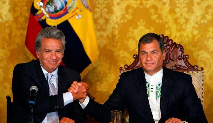 """Moreno reta a Correa a regresar a Ecuador """"y no esconderse en las fronteras""""."""