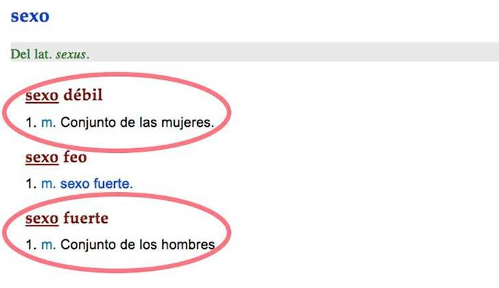 """La RAE actualizará el uso de """"sexo débil"""" como """"despectivo"""" y """"discriminatorio""""."""