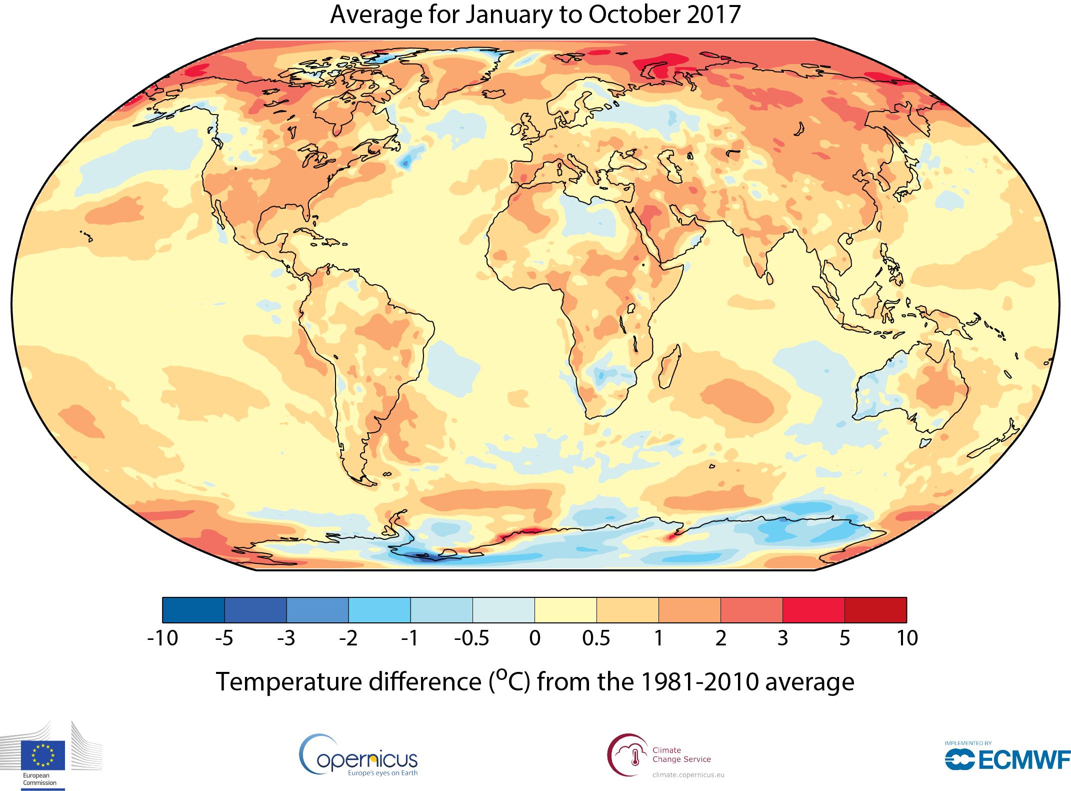 Uruguay ha estado entre 2° y 3° más caliente, respeto a su promedio de los últimos años.