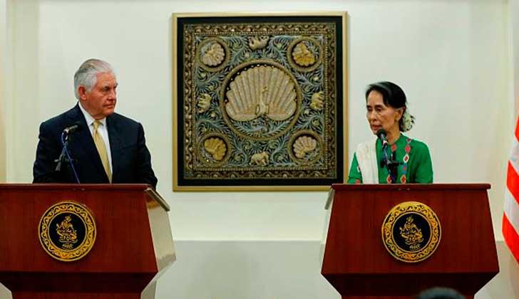 """EE.UU. no impondrá sanciones contra Birmania por la """"limpieza étnica""""  de rohingyas."""