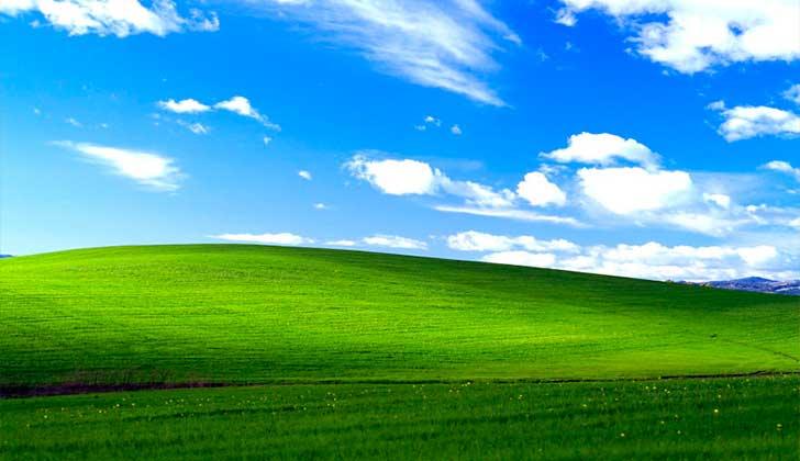 El fondo de pantalla de Windows XP es la fotografía más vista del mundo .