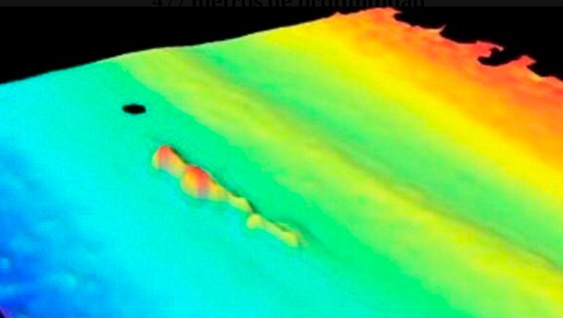 Esta fue la irreguliridad que las sondas acústicas detectaron este jueves. Foto: Armada Argentina