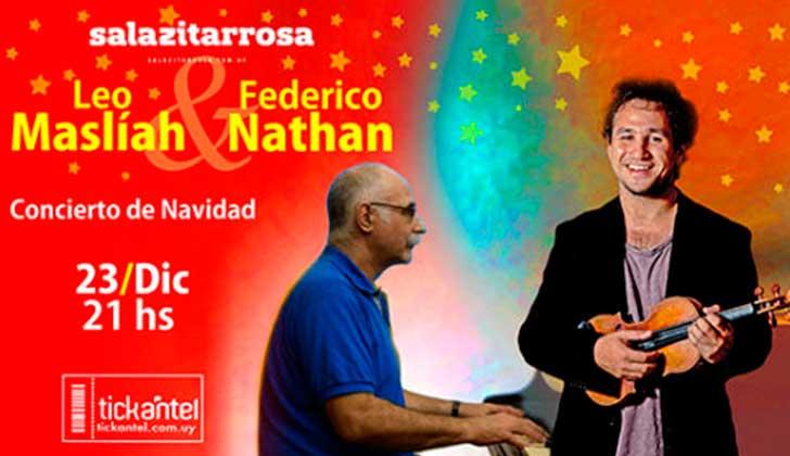 """""""Concierto de Navidad"""": Leo Maslíah y Federico Nathan en la Zitarrosa ."""