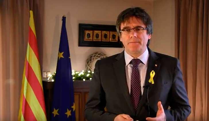 """Puigdemont: """"Como president, exijo al Gobierno español que repare el daño causado""""."""