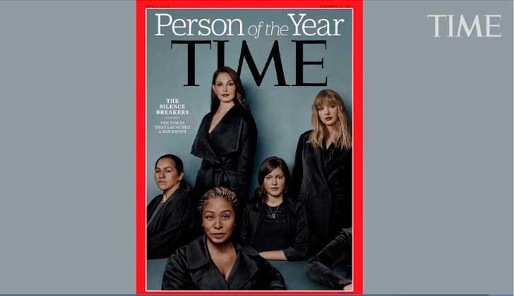 """La revista Time nombra """"persona del año"""" al movimiento #MeToo."""
