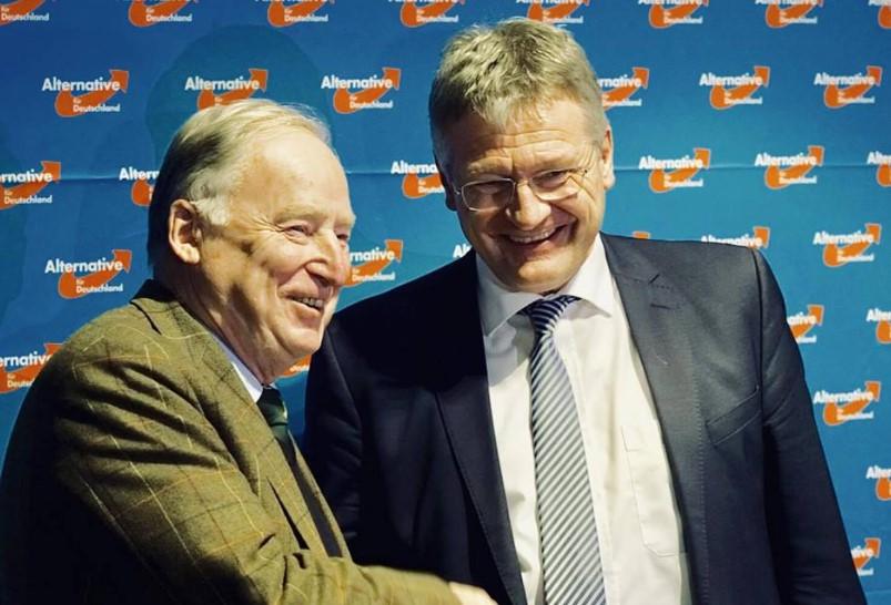 Jörg Meuthen (der) y Alexander Gauland. Foto: Facebook AfD