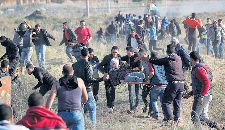 """Cuatro muertos y cientos de heridos en Palestina tras el """"Día de la ira"""" provocado por Trump."""