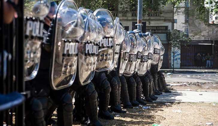 CIDH expresó preocupación por la actuación de la fuerza policial en protestas en Argentina. Foto: Emergentes