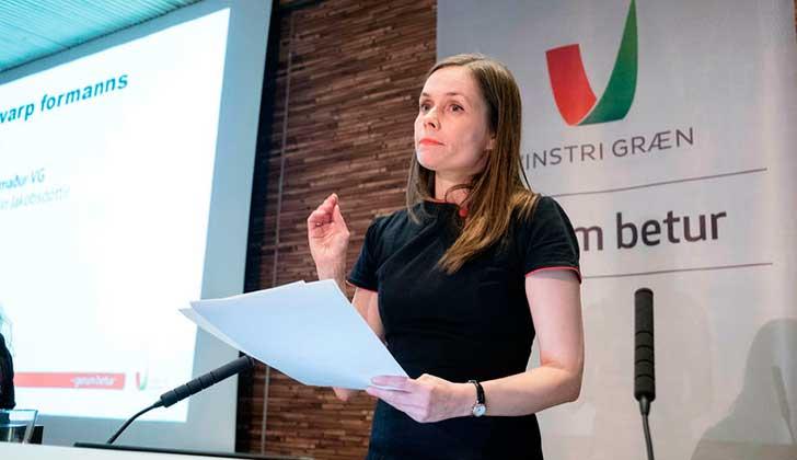 Katrín Jakobsdóttir, la feminista y ambientalista electa como primera ministra de Islandia.