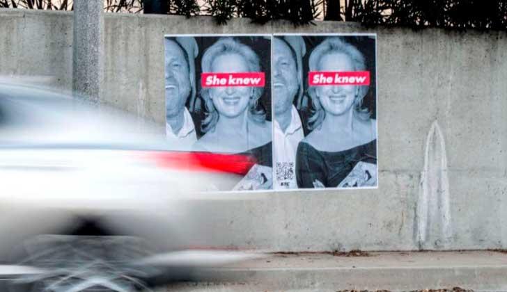 La campaña que acusa a Merly Streep de conocer los abusos de Weinstein.
