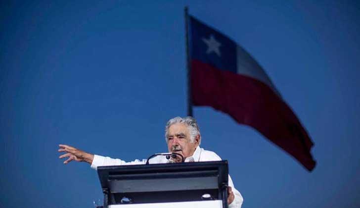 """Desde Chile Mujica llamó a """"luchar por una inteligencia latinoamericana común"""". Foto: Facebook MPP"""
