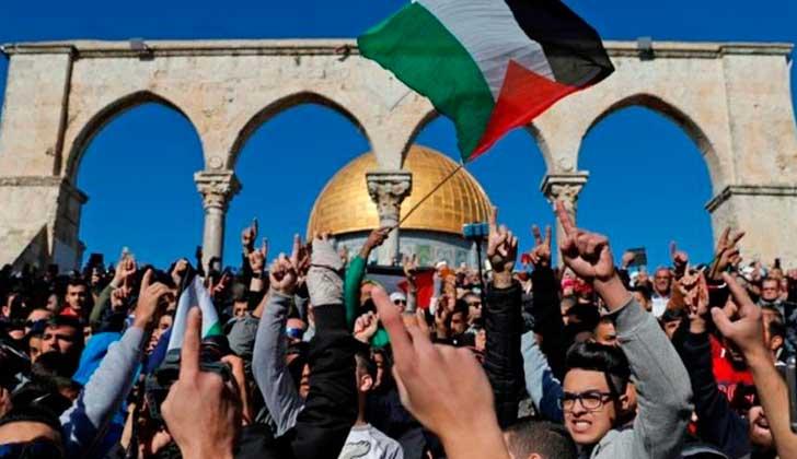 Al-Fatah llama a manifestarse para repudiar la visita de Pence  a Jerusalén. Foto: Hispan Tv