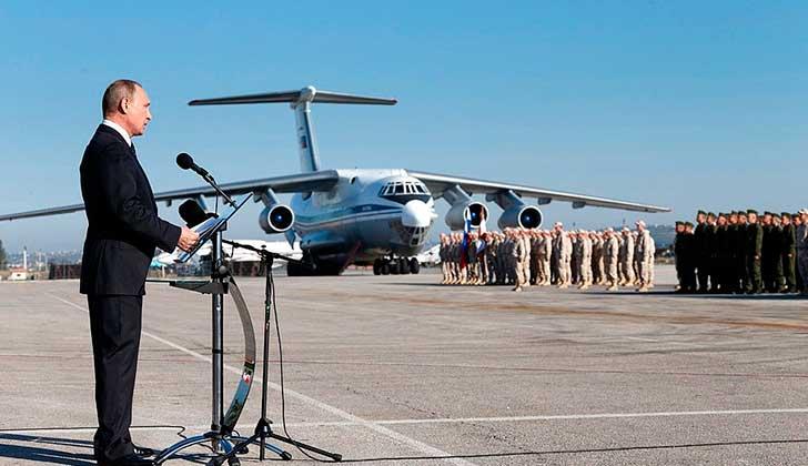Putin ordena retirada de parte de sus tropas en Siria