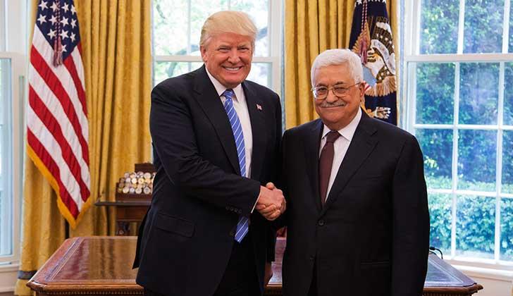 Trump comunica a Abbás su intención de mover la Embajada de EE.UU. a Jerusalén.