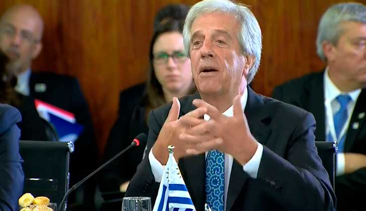 """Opositores criticaron dichos de Vázquez sobre la """"falta de capacidad para gobernar"""" de la oposición. Foto: Presidencia"""
