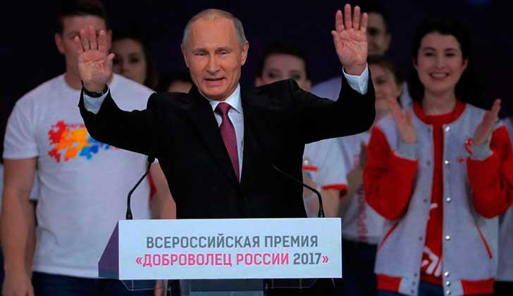 Putin anunció que se repostulará en las presidenciales de 2018.
